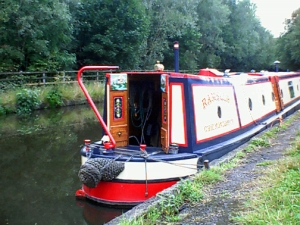 Rambler on the Peak Forest Canal near Hyde, Cheshire